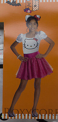 Hello Kitty Costume For Girls (Halloween Girls Sanrio Hello Kitty Dress Bow Belt Headpiece Costume Size 4-6)