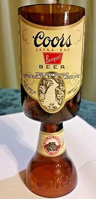 Coors extra dry banquet Beer Bottle converted to Mug / Glass / Stein