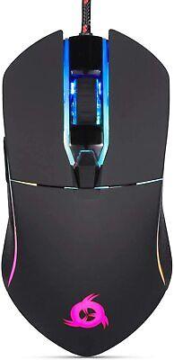 KLIM AIM Gaming Mouse Wired Ergonomic Gamer USB Computer Mice Chroma RGB Black
