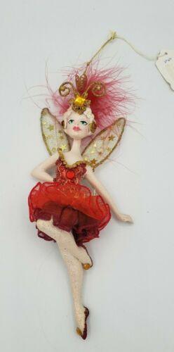 Vtg Kurt Adler Van Craig The Vantastiks Red Fairy Show Girl Christmas Ornament