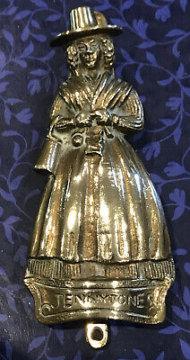 British Solid Brass from Wales Spinning Lady Vintage Door Knocker