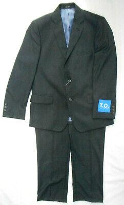 Boys Grey Suit (Boys T.O. Charcoal Gray 2PC. Suit Sizes 12 Regular - 20)