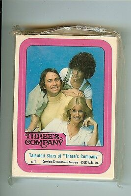 1978 Three's Company Complete set nm to mint 44 Stickers