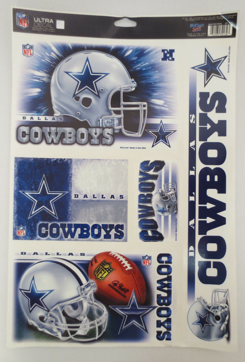 dallas cowboys decal decals ultra removable nfl
