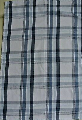 2er-Set Geschirrtücher weiß/blau-kariert Bio-Baumwolle ca. 52 x 71 cm NEU