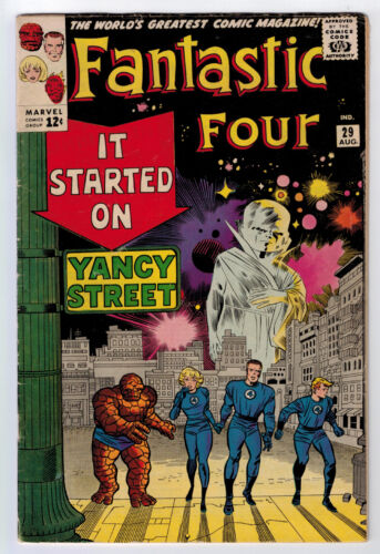 FANTASTIC FOUR #29 5.0 JACK KIRBY ART 1964 OFF-WHITE PAGES