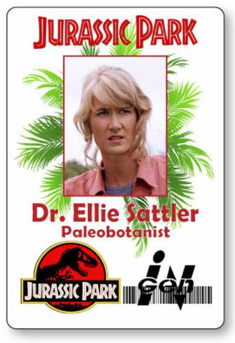 DR ELLIE SATTLER JURASSIC PARK NAME BADGE PROP HALLOWEEN COSPLAY PIN BACK