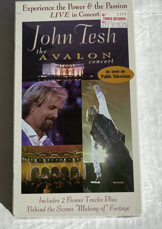 John Tesh The Avalon Concert (VHS, 1997) New Factory Sealed Tower Records