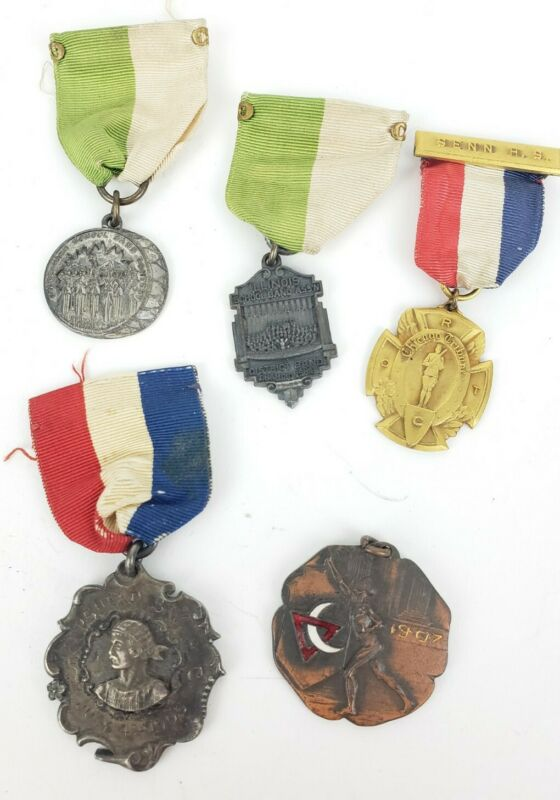 Group Of Misc. Vintage Misc. Estate Found Medals - Ribbons - One Sterling