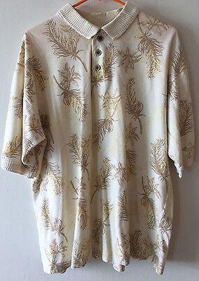 Pacific Knit Shirt ( Ocean Pacific Golf Shirt Hawaiian Print Polo Knit Men's Large)