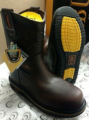 Comfortable Steel Toe Shoes - Cebu Comfort Mens Leather Steel Toe Work Safety Boots Slip Oil Resistant Brown