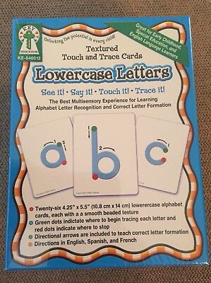 """Carso-Dellosa, Key Education 26 Textured Touch & Trace Cards """"Lowercase -"""