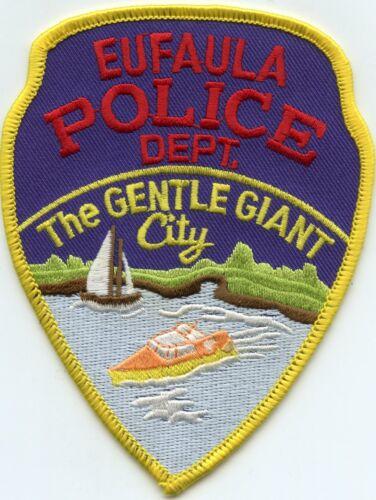 EUFAULA OKLAHOMA OK The Gentle Giant City POLICE PATCH