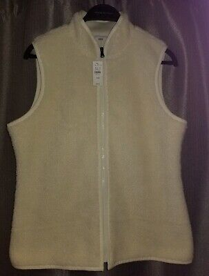 NEW TALBOTS Soft Sherpa Vest Ivory Petite Medium NWT $79.50 for sale  Shipping to South Africa