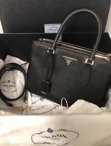 Authentic Prada Black Galleria Saffiano Bag