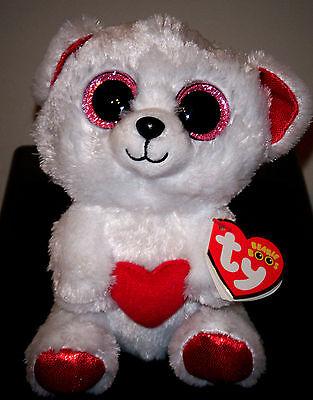 "Ty Beanie Boos ~ CUDDLY BEAR the 6"" Stuffed Plush Toy (Brand New) 2016 Design"