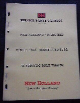 Genuine 1960-1962 New Holland 1040 Automatic Bale Wagon Parts Manual Catalog