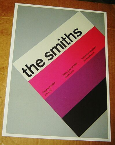 SMITHS ROCK CONCERT POSTER SWISS PUNK GRAPHIC POP ART HOLLYWOOD PALLADIUM