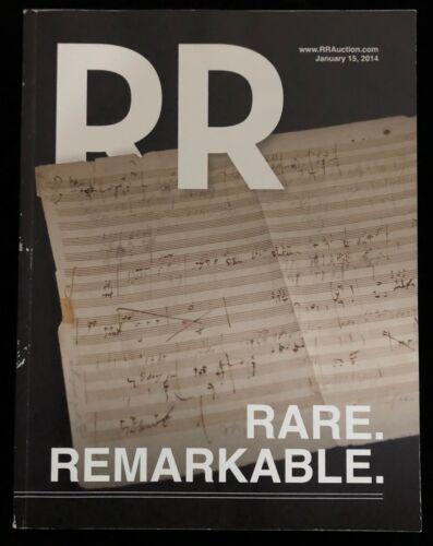 RR AUCTION CATALOG ENTERTAINMENT HISTORICAL MUSICIANS SPACE SPORTS INTEREST 2014
