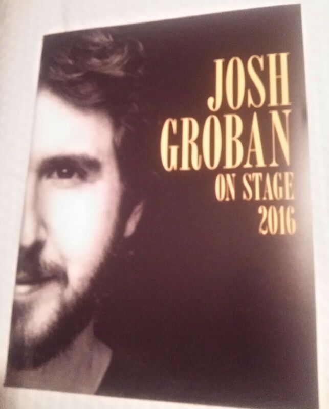 Josh Groban 2016 Tour Program