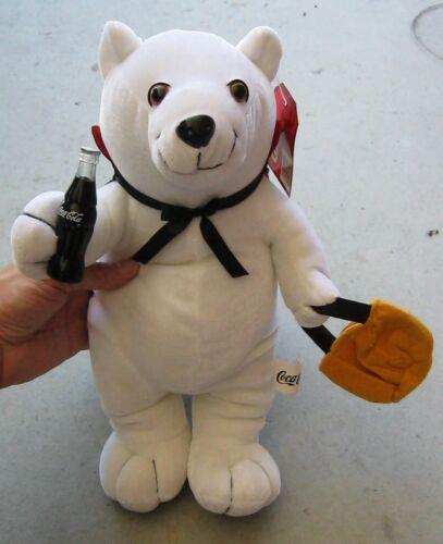 "COCA COLA 2002 HALLOWEEN PLUSH VAMPIRE POLAR BEAR TOY 13"", TRICK-OR-TREAT, NWT!"
