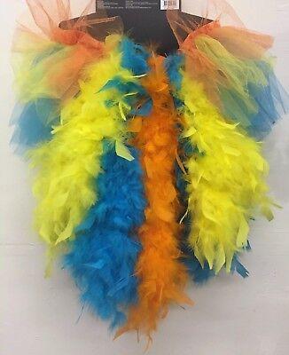Feder Turnüre Tutu Rock Orange-Gelb Blau Tänzerin Burleske Karneval - Blau Tutu Rock Kostüm