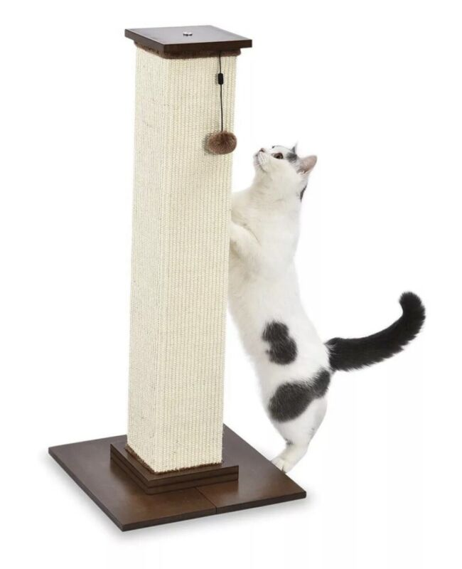 Amazon Basics Large Premium Tall 35 inches Cat Scratching Post Wood  heavy!
