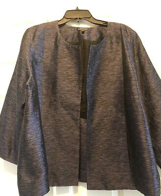 Eileen Fisher Jacket, Size XL, Silk, Color Multi, Lined, 3/4 Sleeves, Pockets
