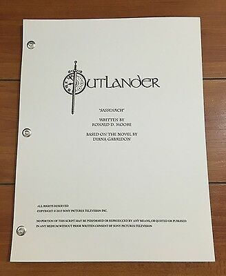 STARZ OUTLANDER SHOWS' COVER PILOT SCRIPT (61 Pages) SAM HEUGHAN CAITRIONA BALFE