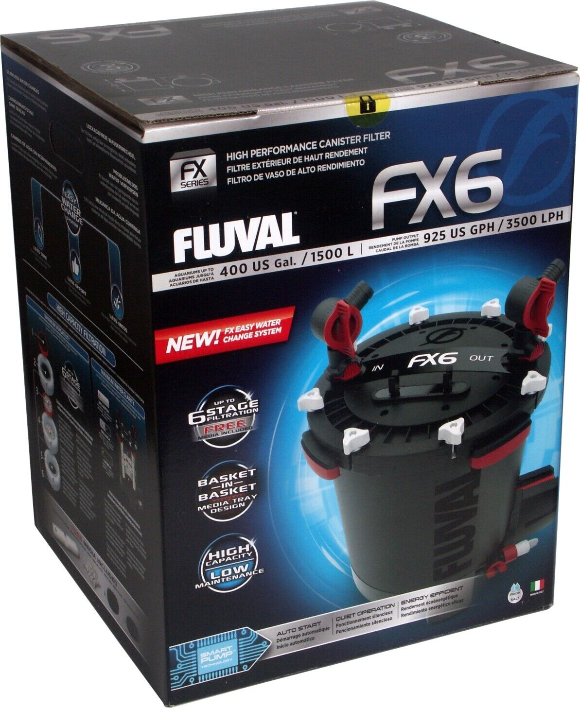FLUVAL FX6 CANISTER FILTER A219 All Media included PLUG AND