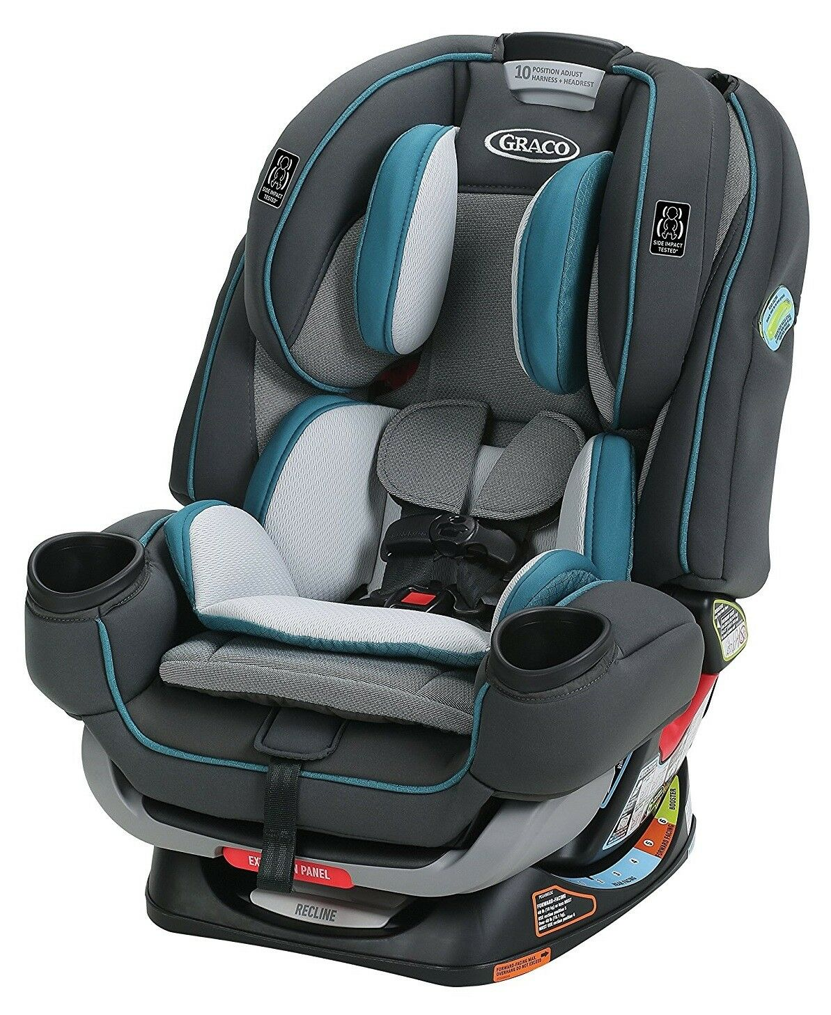 Graco 4Ever Extend2Fit 4-in-1 Car Seat, Seaton