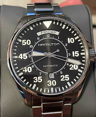 Hamilton Khaki Aviation Pilot Day Date Automatic Watch H64615135 (Interstellar)