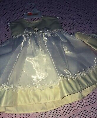 Flower Girl Dresses Yellow And White (NWT Yellow & White  satin and Organza Special Occasion/Flower Girl Dress 18)
