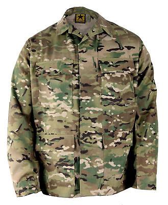 Propper MultiCam Camo BDU 4Pocket Coat Shirt 65/35 LR Military Jacket Large R   Camo Propper Bdu Shirt