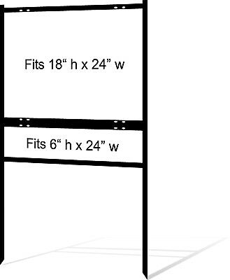 Real Estate Yard Sign Metal Frame 18 X 24 Slide-in 1 Rider Black Pack Of 1