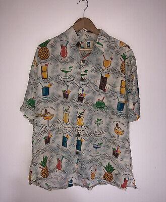 Vintage Y2K Hawaiian Shirt | MADE IN HAWAII Rare Pattern Large L