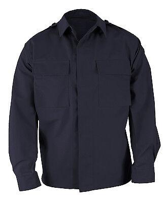 LAWPRO BY PROPPER BDU COAT 2 POCKET LONG SLEEVE BATTLE RIP SHIRT NAVY LARGE (2 Pocket Bdu Shirt)