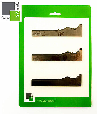 New Moulding Knives Kit Of 3 Base Board 5.5 Woodmaster Compatible 1007