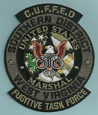 UNITED STATES MARSHAL WEST VIRGINIA FUGITIVE TASK FORCE POLICE PATCH