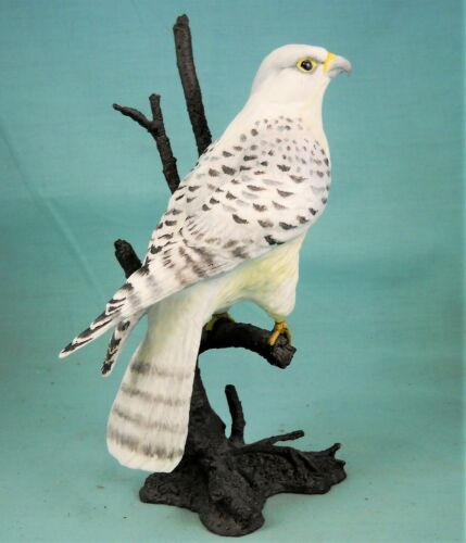 Royal Worcester Birds of Prey Gyrfalcon Porcelain and Bronze