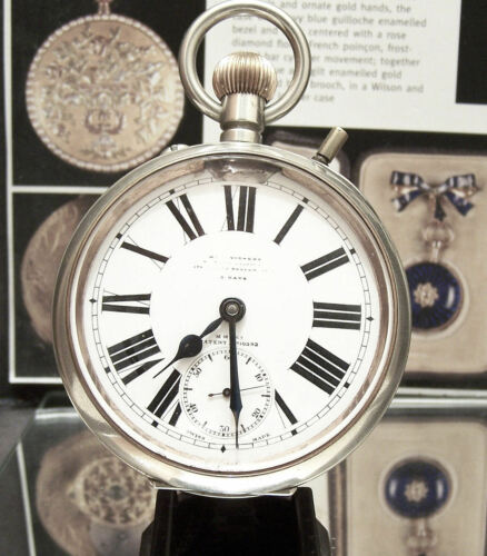 OMEGA SWISS 1894-1910 ANTIQUE RAILWAY STATION MASTERS GOLIATH 8 DAY WATCH