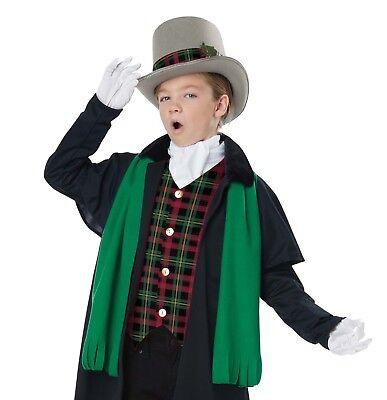 Boy's Victorian Christmas Caroler Dickens Jacket Vest Hat Ascot Scarf Costume (Kostüme Dickens Christmas Carol)