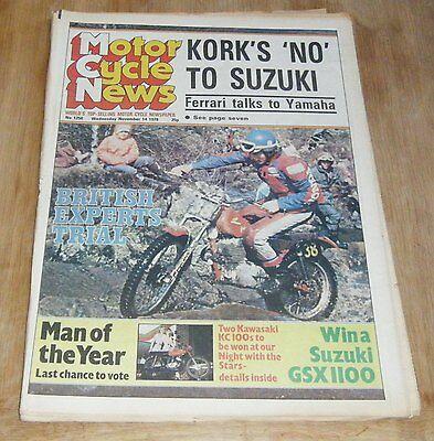 MotorCycle News Magazine 14/11/79 No.1250 - Crocker, Suzuki GP100 FZ50 ERN100