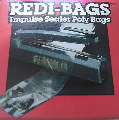6 Inch X 75 Feet Poly Bag Roll For Impulse Sealer With Core Bags