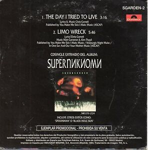 SOUNDGARDEN-CHRIS-CORNELL-034-THE-DAY-I-TRIED-TO-LIVE-034-SPANISH-PROMO-CD-SINGLE
