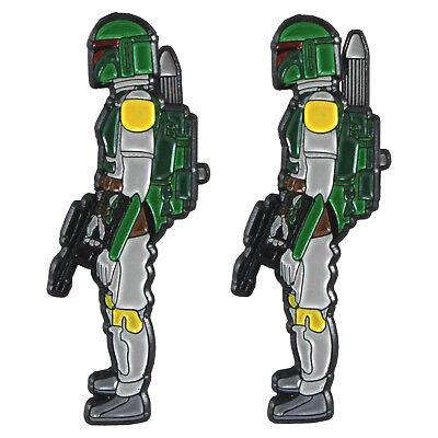 GRAY Rocket Firing Boba Fett enamel pin - Star Wars, bounty hunter