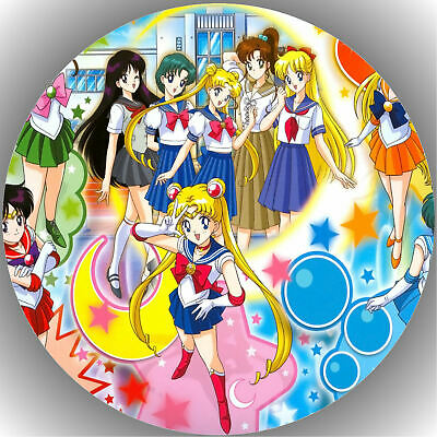 Tortenaufleger Geburtstag Party Tortenbild Fondant - Oblate Sailor Moon  P7