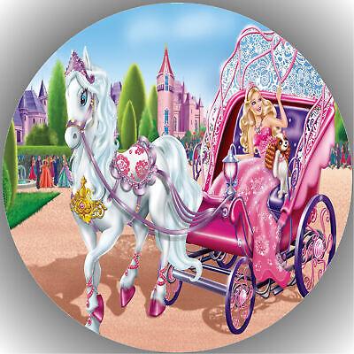 Tortenaufleger Geburtstag Party Tortenbild Fondant - Oblate Barbie  P8