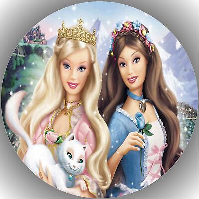Tortenaufleger Geburtstag Party Tortenbild Fondant - Oblate Barbie  P6