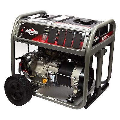Briggs Stratton Gas Powered 5000 Watt Portable Generator W Wheels For Parts